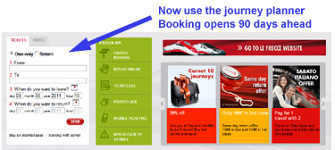 Trenitalia.com:  Use the journey planner