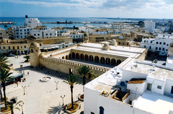 The grand Mosque, Sousse, Tunisia.  Easy to reach without flying!