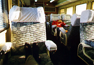 Grand Confort class on a Tunisian train from Sfax & Sousse to Tunis