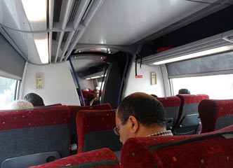 Tunisian express railcar interior
