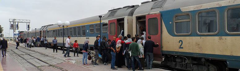 A Tunisian rapide train