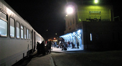 The overnight rapide train from Tunis, arrived at Tozeur