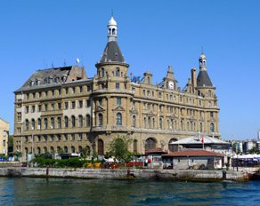Haydarpasa Station in Istanbul, for trains to Ankara, Konya Denizli & eastern Turkey.  Photo courtesy of Stuart Baker