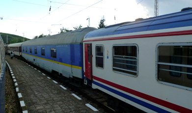 The Bucharest to Istanbul train in Bulgaria