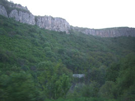 Scenery in Bulgaria, seen from the train to Istanbul