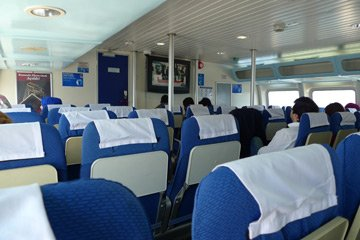 On board the fast ferry from Istanbul to Bursa