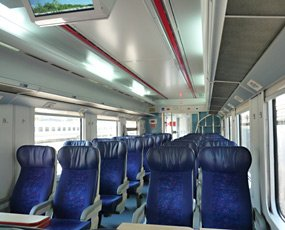 Inside the train from Izmir to Ephesus (Selcuk) & Pamukkale (Denizli)