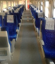 Inside the train from Iskenderun to Adana