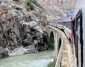 Taking the train to Kars via the Euphrates river