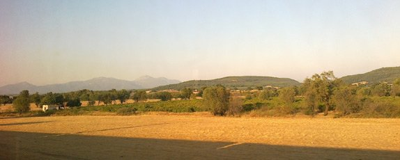 Scenery from the Izmir to Ephesus train