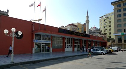 Istanbul Sirkeci station:  A modern building now fronts the forecourt.