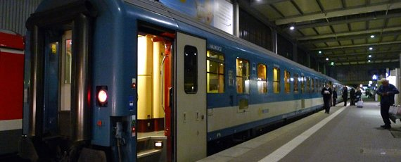 The sleeper train to Budapest