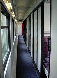 TVS2000 Sleeping-car corridor, Ankara-Kars, Izmir-Ankara night trains