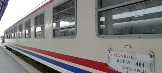 The Turkish couchette car on the Sofia to Istanbul train