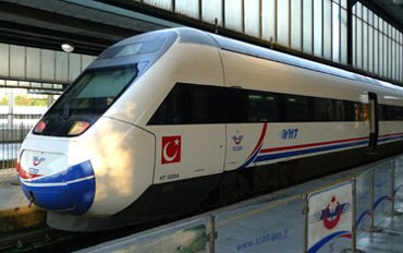 Turkish high-speed train
