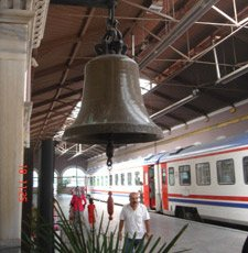 The station bell at Izmir Alsancak