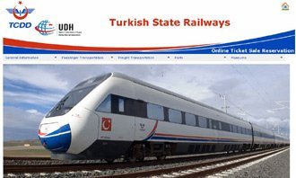 Turkish Railways (TCDD) online ticket sales