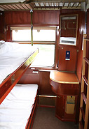2-berth sleeper on the train from Bucharest to Istanbul