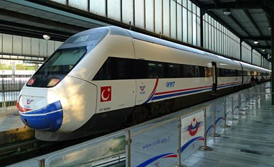 YHT train at Ankara