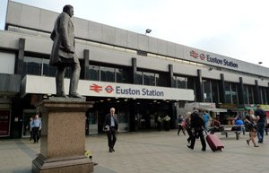 London's Euston station
