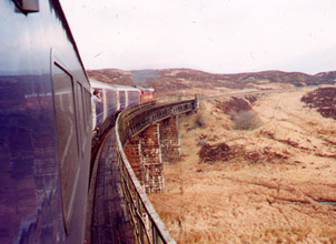 The London - Fort William 'Caledonian Sleeper' on Rannoch Moor...
