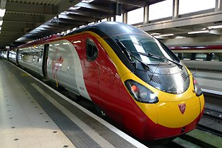 A 125mph Virgin Trains 'Pendolino'