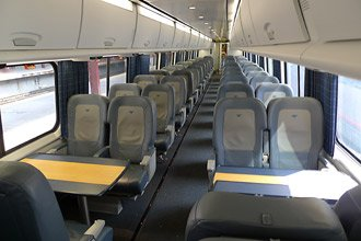 Business class seats on Amtrak's Acela Express