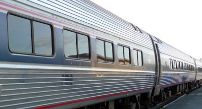 Amtrak trains:  Amfleet coaches on the New York to Chicago 'Lake Shore Limited'