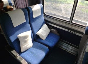 Amtrak trains:  Reclining seats on the New York to Chicago 'Lake Shore Limited'