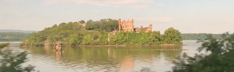 Bannerman's Island, seen from the New York to Chicago train.
