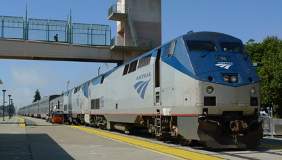 The California Zephyr at the end of its run, at Emeryville