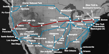 Across The USA By Train In Pictures Amtraks California Zephyr - Amtrak map of routes in us