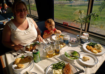 Dinner on the California Zephyr