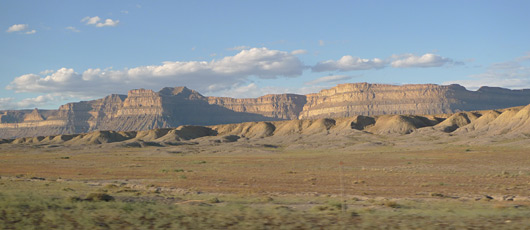 Scenery in Utah seen from the California zephyr