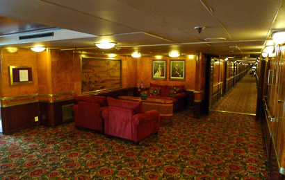 Cabin deck on Hotel Queen Mary