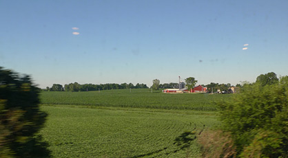 Indiana farmland seen from Amtrak's Lake Shore Limited