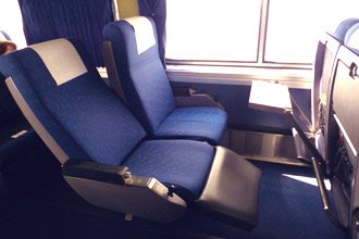 Amtrak Superliner trains:  reclining seats