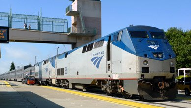 Amtrak's California Zephyr, arrived 10 minutes early at Emeryville