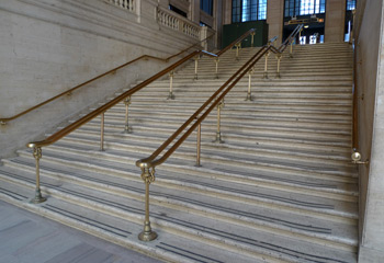 The steps at Chicago Union Station featured in the pram scene in The Untouchables