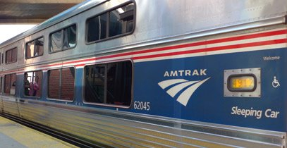 Amtrak Viewliner sleeping-car on the New York to Chicago 'Lake Shore Limited'