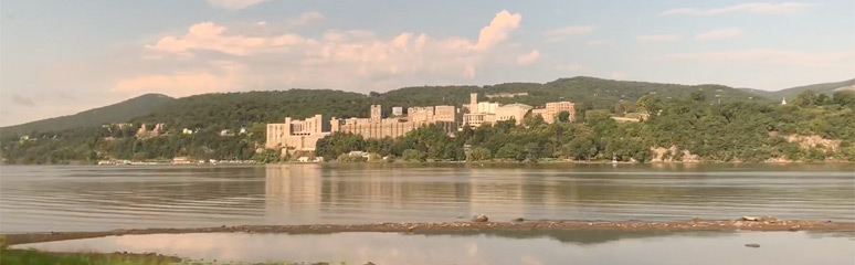 West Point Academy, see from Amtrak's Lake Shore Limited New York to Chicago train
