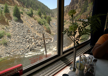 More Colorado scenery seen over lunch on the California Zephyr