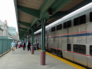 The California Zephyr at Denver Union Station