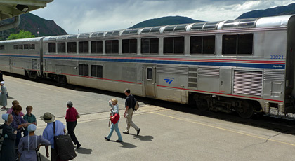 The California Zephyr at Glenwood Springs