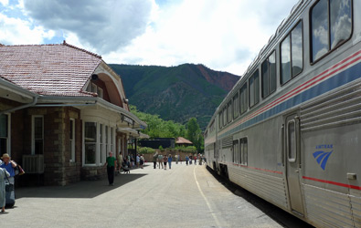 The Zephyr calls at Glenwood Springs.