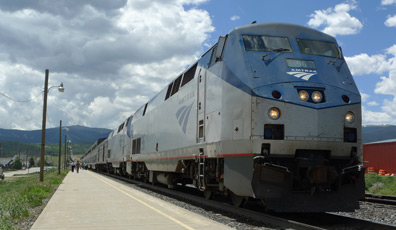 Amtrak's California Zephyr stops at Winter Park