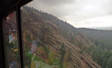 In the Rockies, the Zephyr passes through a series of tunnels carved from the rock.