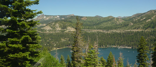 The Donner Lake, seen from the California Zephyr