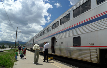 The California Zephyr at Winter Park