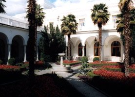 The Livadia Palace courtyard where the photos of Roosevelt, Stalin & Churchill were taken at the Yalta Conference in 1945